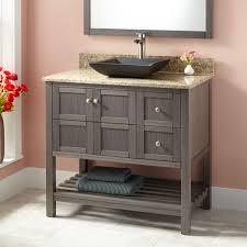36 everett vanity for semi recessed sink gray pear