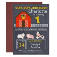moo invitations farmyard invitations announcements zazzle