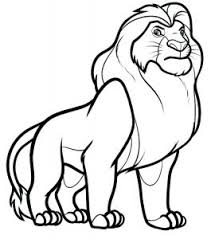 African lion coloring page from lions category. Lion Free Printable Coloring Pages For Kids