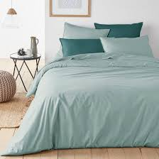 plain organic cotton percale duvet