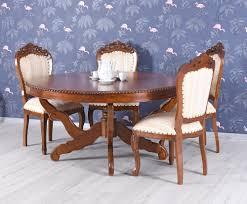 Esstisch Xxl Mahagonitisch Holztisch Rund Massivholz Tisch Antik