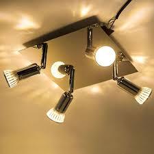 new modern square 4 way square kitchen led ceiling spot lights spotlight fitting