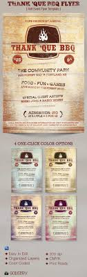 thank que western bbq charity flyer template on behance