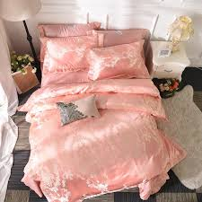 pink bedding set embroidered sheet duvet cover pillowcase king super king size 100 cotton bed linen set home textile blue comforter sets california king