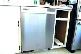 secure dishwasher under granite countertop