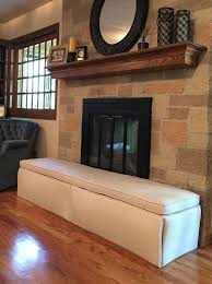 hearthsoft by jamboo creations is a baby proof fireplace hearth protection cushion that combines home décor and child safety