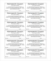 Coupon Template – 11+ Free, Word, Excel, PDF, AI Illustrator ... Homework Blank Coupon Template Word Format