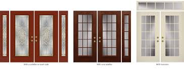 additional customization is available via the style of sidelite whether the full length is covered by glass or a combination of panel and glass