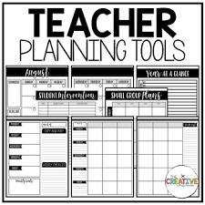 Teacher Organizer Planner Editable Teacher Planner Organizer Binder The Glam Teacher