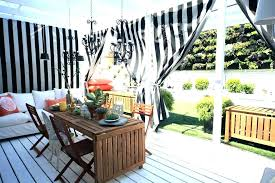 removable outdoor shower curtain rod ideas inexpensive patio drop bathrooms cloth porch eclectic with ice tea