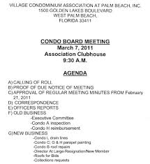 board of directors minutes of meeting template notice of board meeting village condominium association 9 30 am