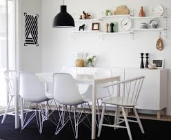 view in gallery cal black and white dining room