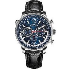 rotary watches automatic mechanical quartz h samuel rotary men s blue multi dial black leather strap watch product number 4606841