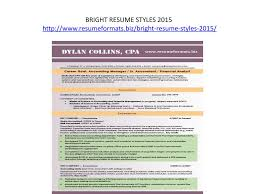 Resume Styles 2015 Ppt Resume Formats Powerpoint Presentation Id 7112891