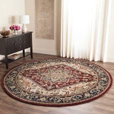 safavieh heritage york hand tufted wool area rug red