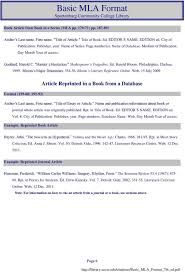 Basic Mla Format Spartanburg Community College Library Pdf