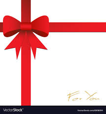 Red Ribbon Design Card Design With Red Ribbon On White Background