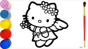 50+ Tranh tô màu Hello Kitty đẹp, dễ thương dành cho bé yêu