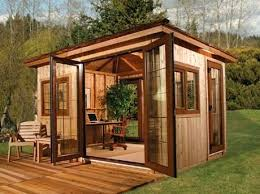 tiny backyard home office. Back Yard Office With An Square Foot Deck This Kit Will Only Takes Four Days . Tiny Backyard Home