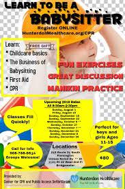 Babysitting Classes Hunterdon Healthcare New Jersey