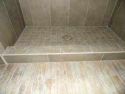diagonal pattern tile top drain in a custom pa shower redi trench pan gallery