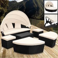sonneninsel poly rattan gartenliege sonnenliege lounge gartenmöbel sitzgruppe
