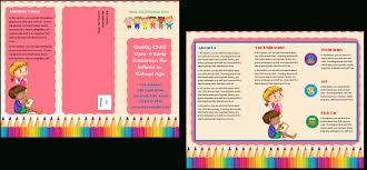 Child Care Brochure Design Daycare Brochure Template Kalde Bwong Co