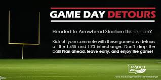 Printable Arrowhead Stadium Seating Chart Game Day Traffic Detours Chiefs Radio Network Kccrn
