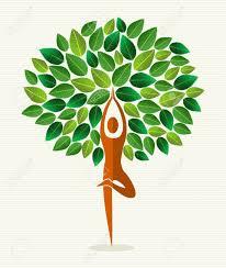 Tree Design Human Shape Yoga Exercise Tree Design File Layered For Easy