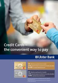 A credit card is a payment card issued to users (cardholders). Credit Cards Ulster Bank