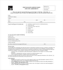 Free Photography Order Form Template Zakly Info