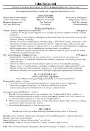 Cover Letter Security Resume Objective Objective For Resume For
