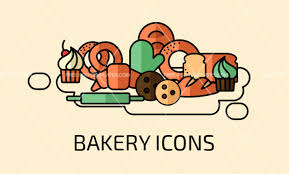 Set Of Free Bakery Icons Mockup Free Downloads