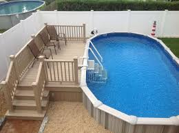 inground pools. Are You Interested In A Semi Inground Pool? Pools C