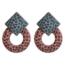 <b>Fashion</b> Women Geometric Leopard Pendant Dangle <b>Drop</b> ...