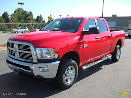2010 Flame Red Dodge Ram 2500 Big Horn Edition Crew Cab 4x4 ...