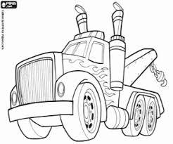 Kleurplaat Een Noodsituatie Vrachtwagen Kraan Kleurplaten