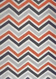 orange and gray chevron rug  creative rugs decoration