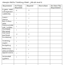 a list of skills printable job skills list