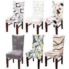modern dining chair covers spandex elastic fl slipcovers chair covers stretch removable dining chair cover with backrest modern kitchen modern dining