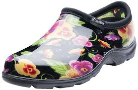 garden clogs womens. Unique Clogs Amazoncom Sloggers Womenu0027s Waterproof Rain And Garden Shoe With Comfort  Insole Pansy Black Size 8 Style 5114BP08 U0026 Outdoor For Clogs Womens I