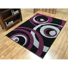 purple and black ruger lc9 vibe circles modern runner rug