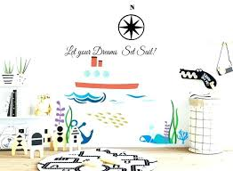 nautical nursery decal kids room wall decals attractive ocean for sticker themed 3d nautic