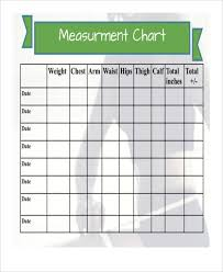 Workout Measurement Chart Measurement Chart Templates 9 Free Sample Example Format
