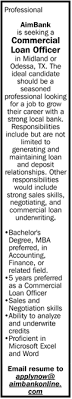 Commercial Loan Officer Aimbank