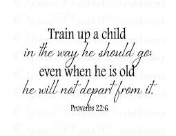 Christian Baby Quotes Best of Christian Baby Nursery Vinyl Wall Decals Train Up A Child In The
