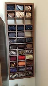 picture of wall mount rolled neck tie display