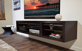 ... Incredible Black Wood Floating Media Cabinet And Media Console Cabinet  Also Wall Mounted Media Cabinet With ...