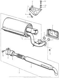 Honda em5000 a generator jpn vin em5000 1000016 parts diagram diagram muffler stay muffler seal honda em5000sx a generator jpn