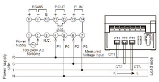kw1m h eco power meter dimensions automation controls three dedicated current transformers ct are required
